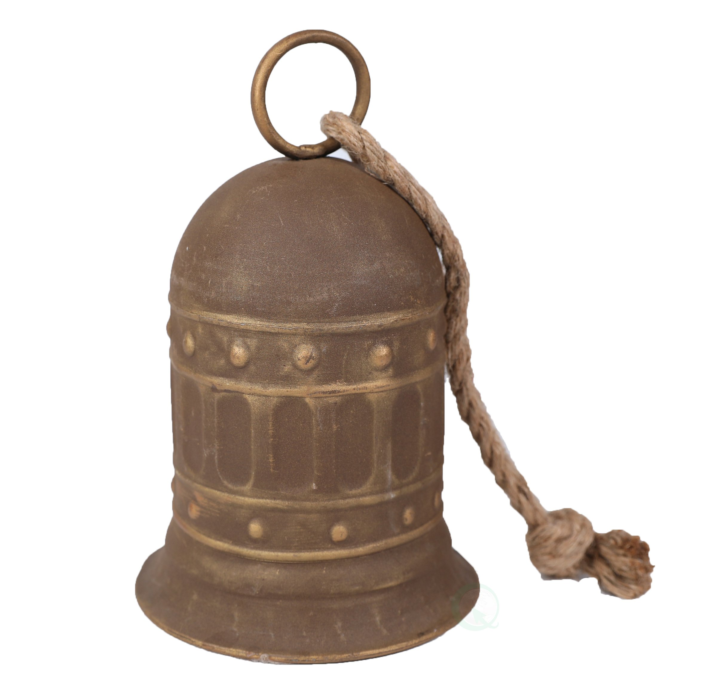 7'' Antique Style Large Decorative Metal Bell for Garden and Home Decor