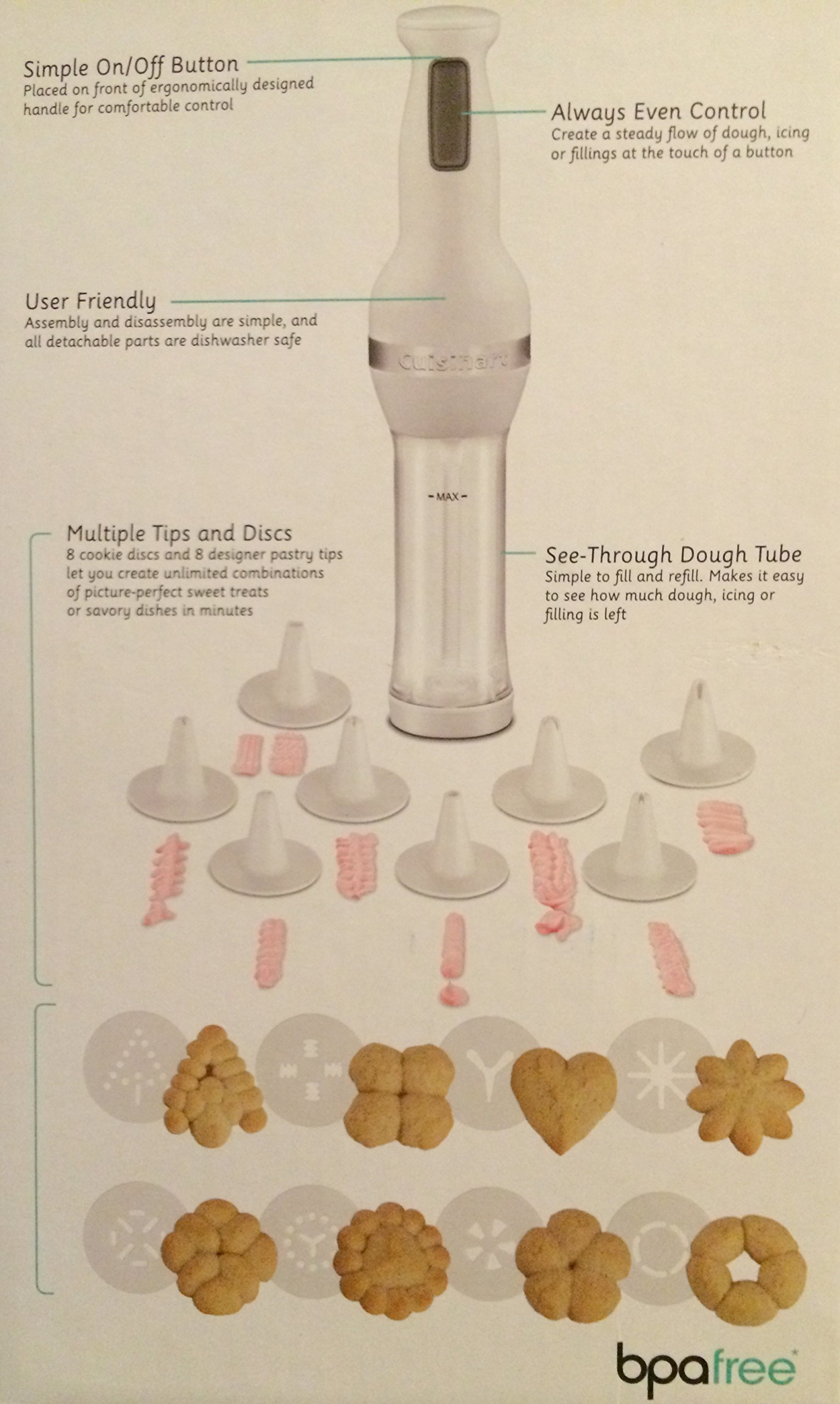 Cuisinart Electric Cookie Press CCP-20 (White) by Cuisinart (Image #1)