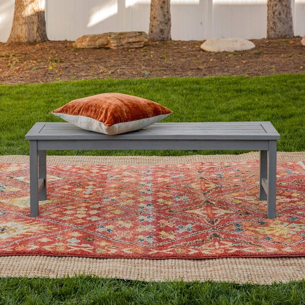 NA2 Surfside 53-inch Acacia Outdoor Bench by Havenside Home