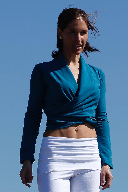 Esparto Dhaara - Camisa de yoga para mujer, talla XS - XL