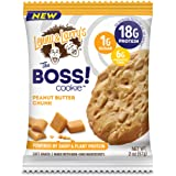 Lenny & Larry's The BOSS Cookie, Peanut Butter Chunk, 2 oz, 18g Dairy & Plant Protein, 1g Sugar, 6g Fiber, 1g Net Carbs - 12