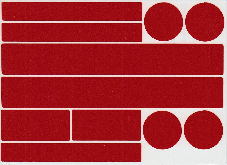 Set Reflektor Aufkleber 22 Stück Reflexsticker Reflektierende Aufkleber Reflektoren Selbstklebend Rot Sport Freizeit