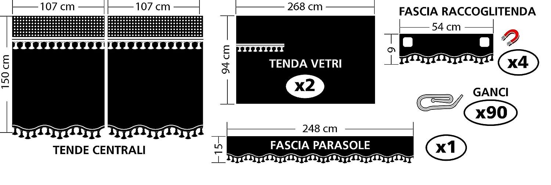 Lampa 98633/Set Vorh/änge Premiere f/ür LKW