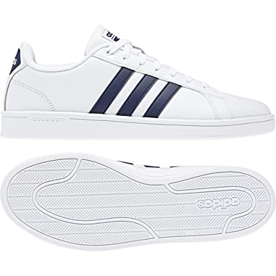 ae95711a3b3741 adidas Neo Mens Shoes Cloudfoam Advantage White Casual Fashion Modern  B43648 New (EU 40 2