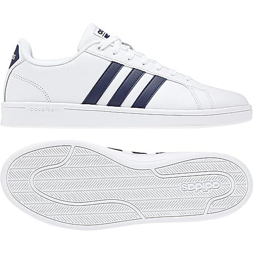 adidas Neo Mens Shoes Cloudfoam Advantage White Casual