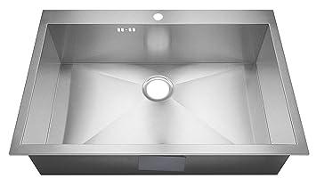 Häufig XL groß 1 Becken Handgefertigtes Nullradius eckiges Küchen NJ72