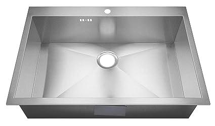 Lavello, misura XL, realizzato a mano, con raggio zero, rettangolare ...