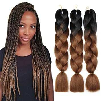 Amazon Com Weave Master Ombre Synthetic Braiding Hair Kanekalon 24