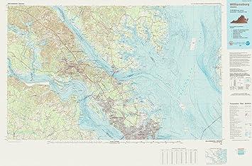 Amazon 1984 topographic bathymetric map historical 1984 topographic bathymetric map historical williamsburg va vintage map fine art reproduction print gumiabroncs Gallery