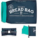 NEW ONYA REUSABLE BREAD BAG Baguette Loaf Roll Bag Keeper 41 x 25 x 10cm