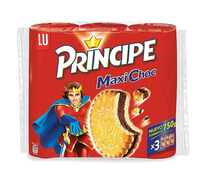 Príncipe Maxi Choc - Galletas sandwich con relleno de chocolate, 750 g