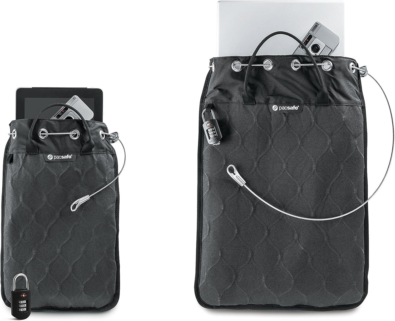 Pacsafe Travelsafe 12L Schwarz//Black 12 Liter Volumen Trage-Tasche mit Anti-Diebstahl Technologie Mobiler Safe mit TSA-Zahlen Schlo/ß
