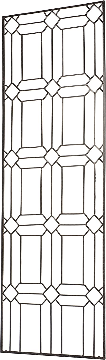 H Potter Garden Trellis for Climbing Plants Metal Outdoor Wall Decor or Flowers Roses Vine Ivy Clematis Large