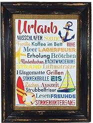 AnneSvea Urlaub! Druck Poster A4 Ferienhaus Hotel Bus Camper Caravan Wohnwagen Womo Travel Strand Surfer Geschenk Strandbar Deko Ferienhaus