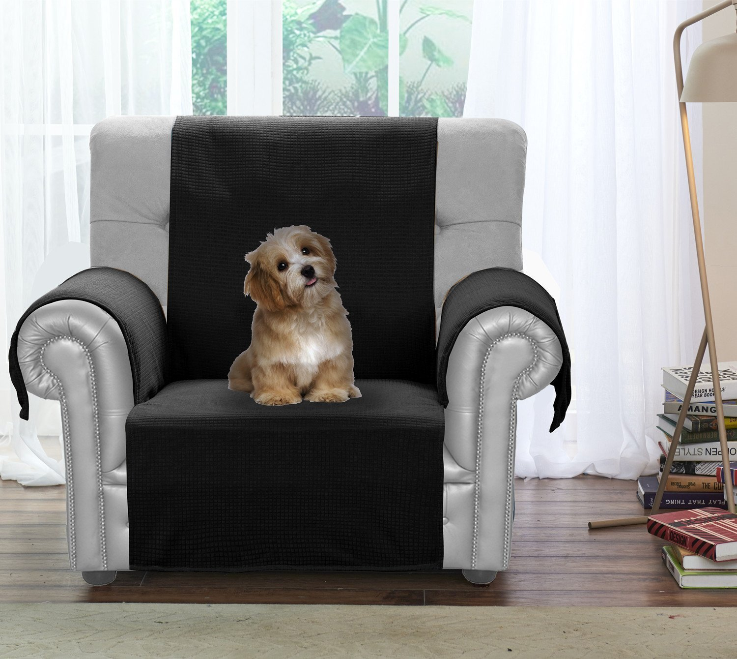 Miraculous Jiater Improved Non Slip Pet Dog Sofa Chair Slipcovers Living Room Couch Covers Furniture Protectors Black Chair Spiritservingveterans Wood Chair Design Ideas Spiritservingveteransorg