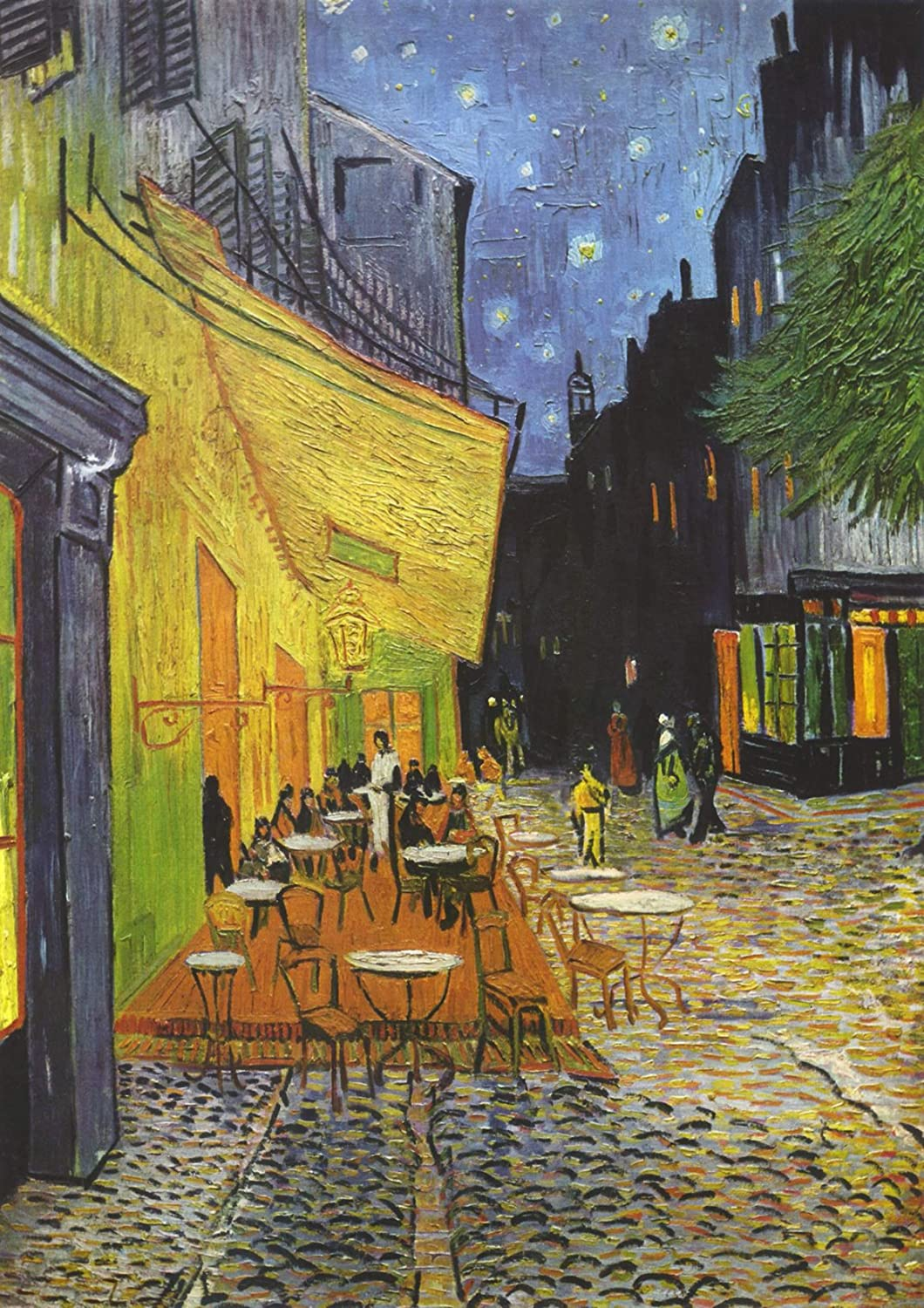Vincent Van Gogh Cafe Terrace Arles At Night Painting Fine Art Re-Print A3 A4