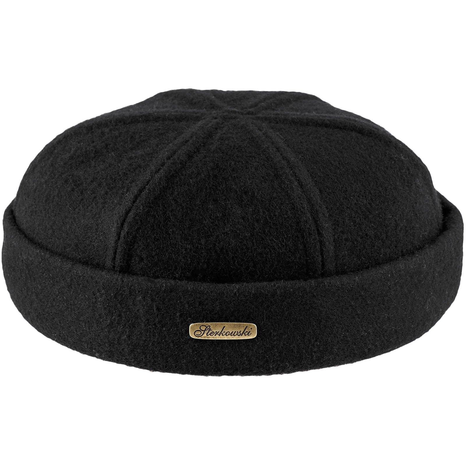 6849603562f Sterkowski Wool Beanie Docker Cap US 7 1 2 Black