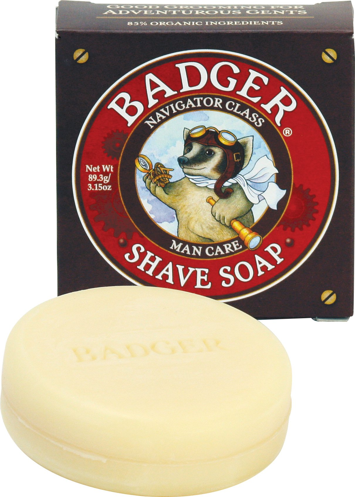 Badger Shaving Soap - 3.15 oz Bar