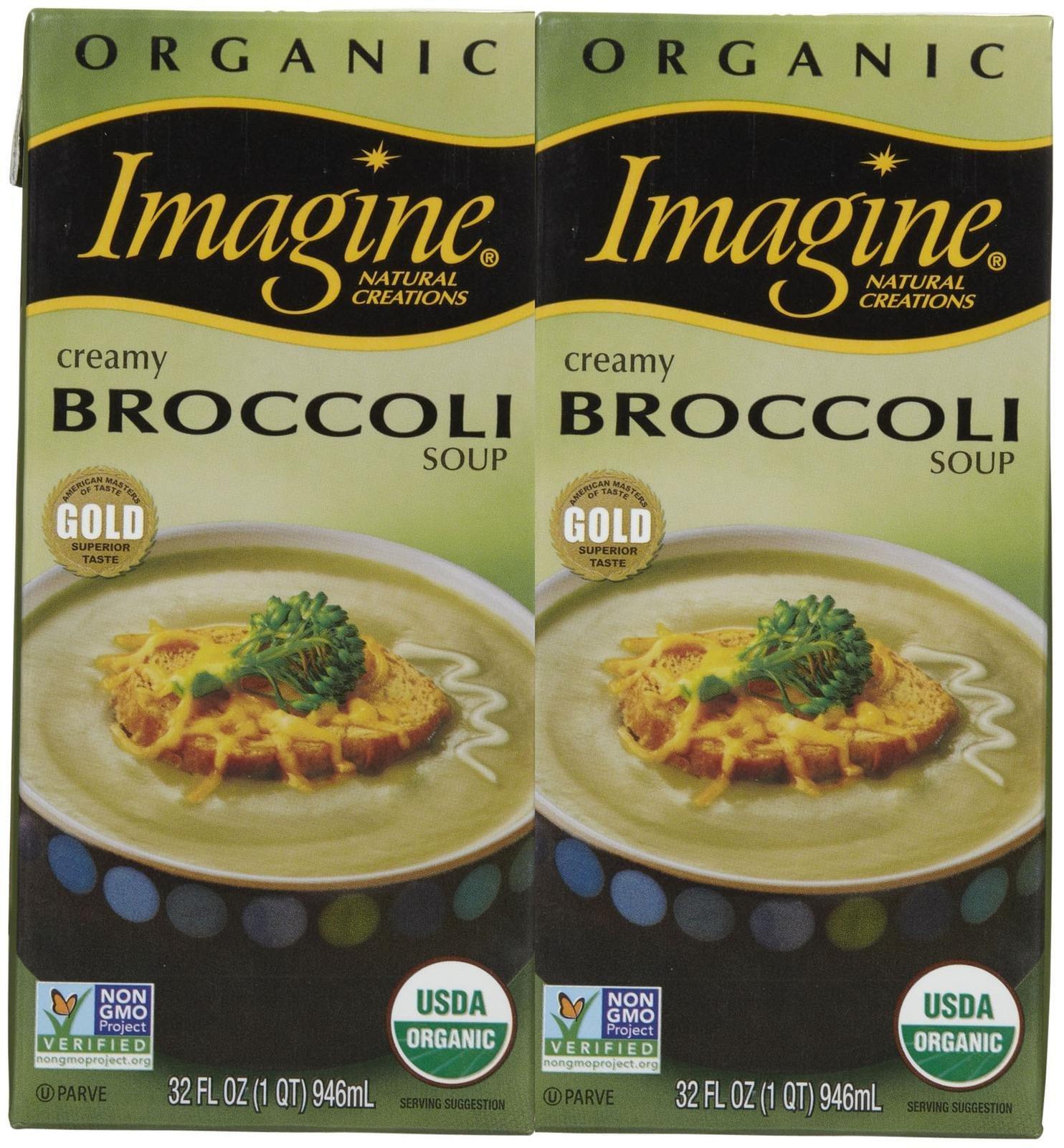 Imagine Organic Creamy Broccoli Soup, 32 oz, 2 pk