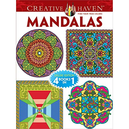 Creative Haven MANDALAS Coloring Book Deluxe Edition 4 Books In 1