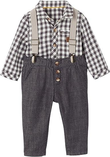 VERTBAUDET Ensemble bébé garçon chemise carreaux + pantalon ...