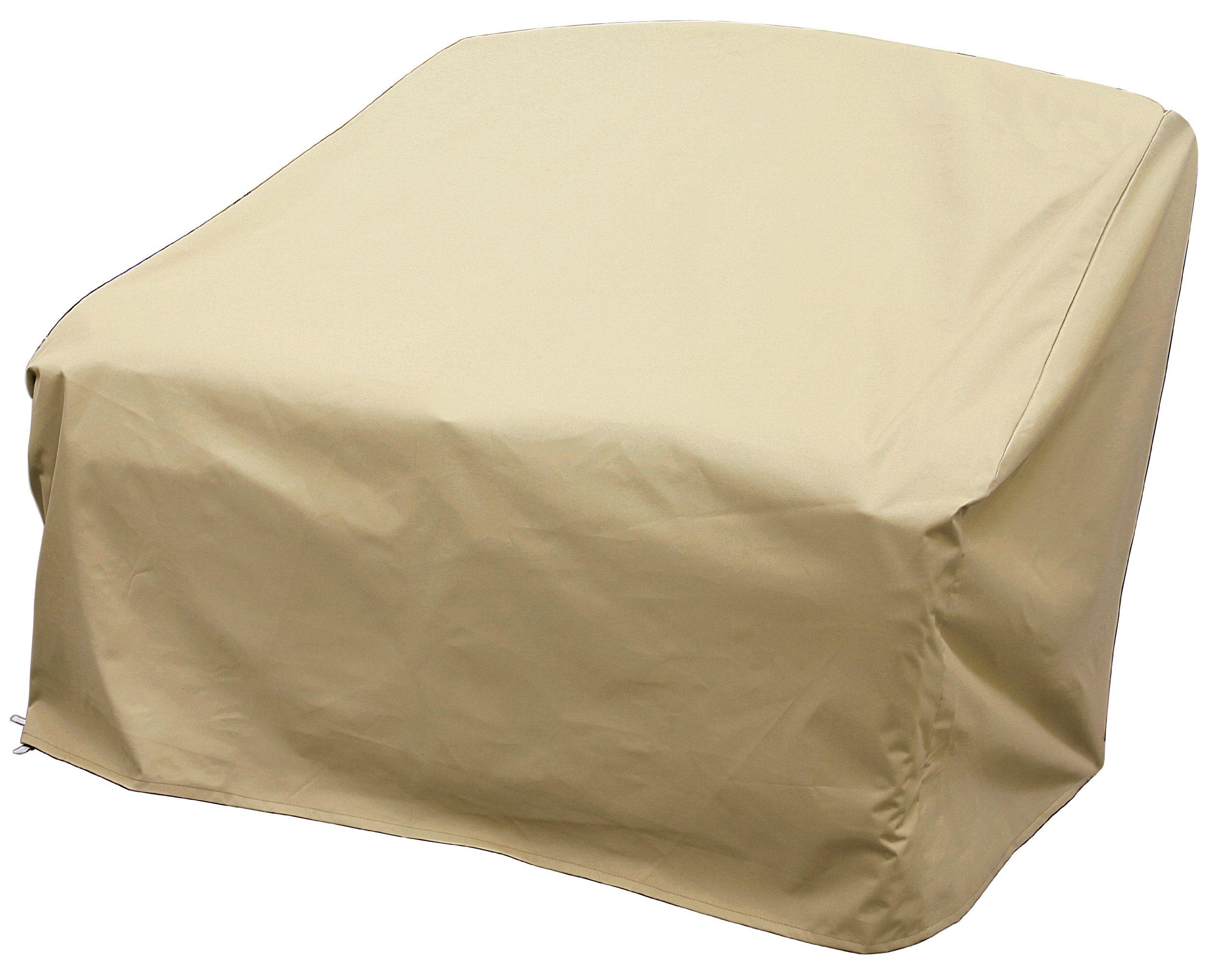 Allen Company Modern Leisure Outdoor Patio Furniture, Love Seat Cover, Waterproof & Weatherproof Love Seat Cover