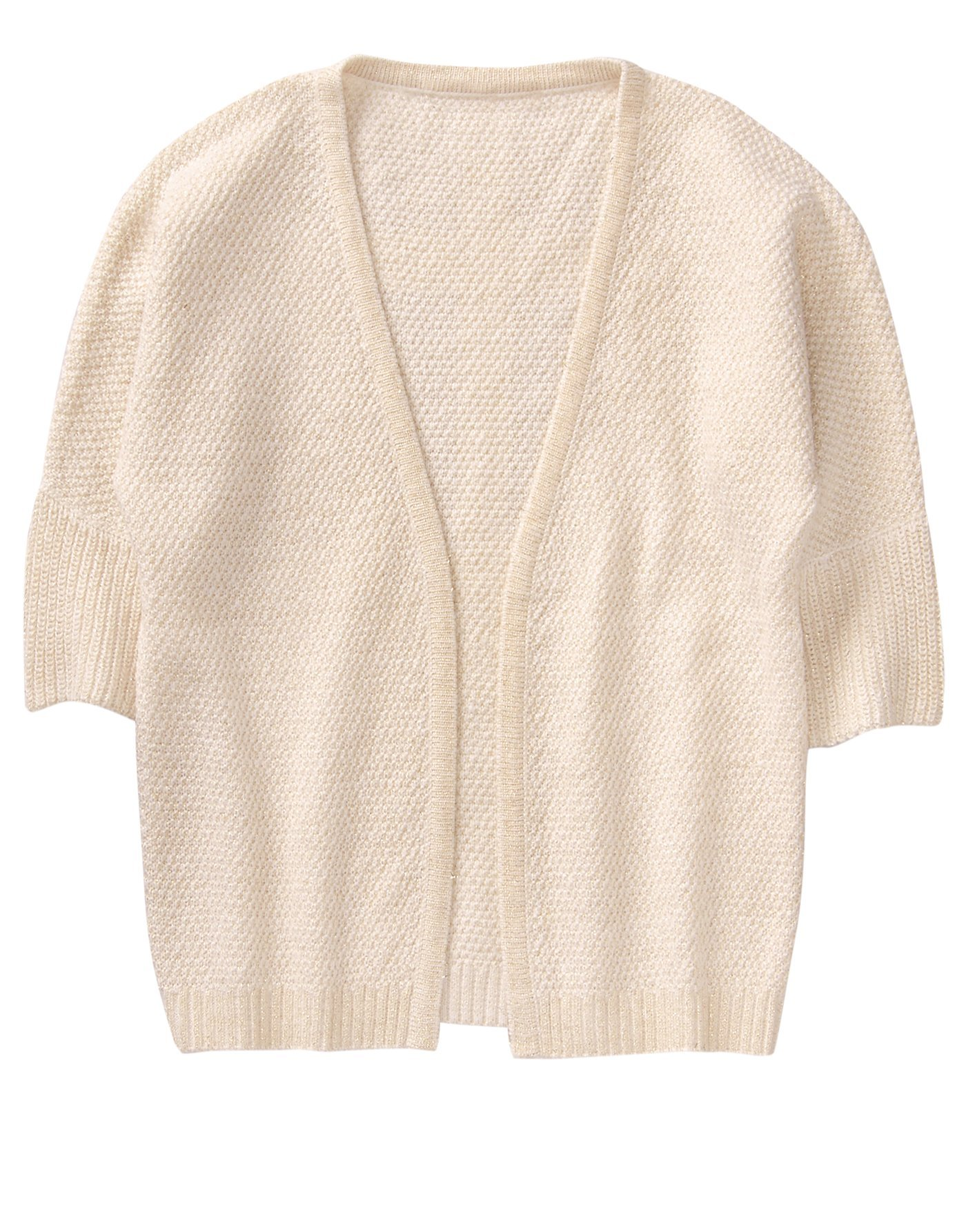 Crazy 8 Toddler Girls' 3/4 Sleeve Open Front Cardigan, Cream, 3T