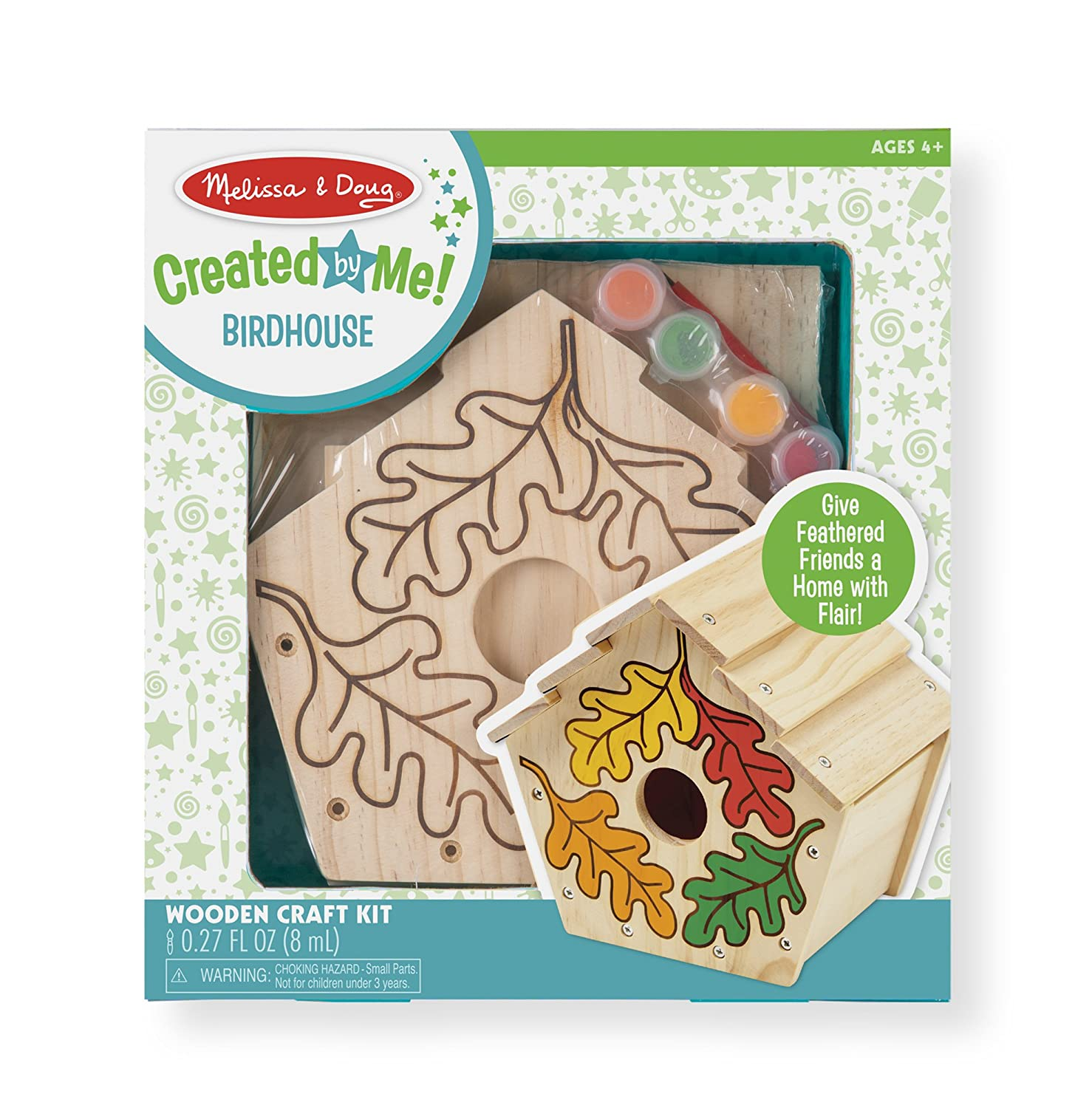 Melissa & Doug Build-Your-Own Wooden Birdhouse Craft Kit 3101