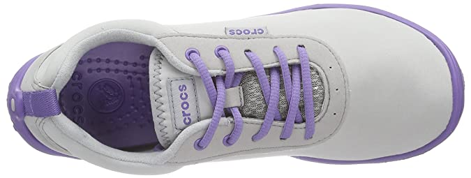 Crocs Duet Busy Day Lace-up Women - Zapatillas para Mujer, Color Gris (Light Grey/Blue Violet 0bn), Talla 38/39