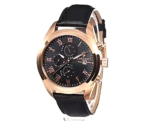 Amazon.com: Maserati Mens R8871612002 Analog Display Quartz Black Watch: Maserati: Watches