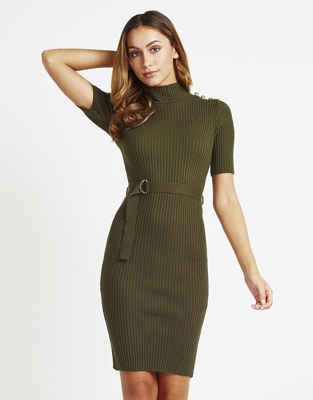 Lipsy Damen Kleid mit Knopfdetails im Military-Look: Amazon.de ...