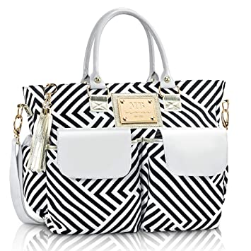 5c64045ebb Fashion Chevron Diaper Bag by MB Krauss - Large Women s Diapering Tote with  Multiple Pockets