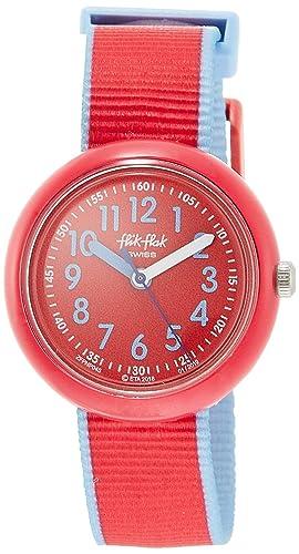 Flik Flak Reloj Analógico para Niñas de Cuarzo con Correa en Tela FPNP045: Amazon.es: Relojes