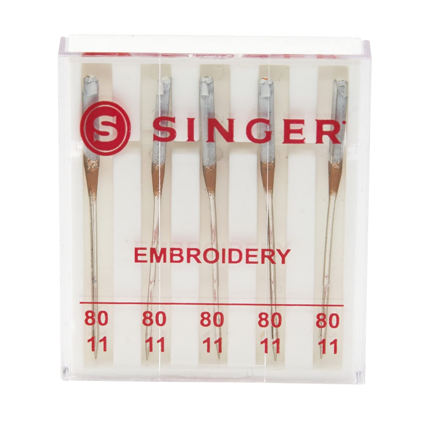 Size 80//11 5-Count SINGER 04727 Universal Embroidery Sewing Machine Needles