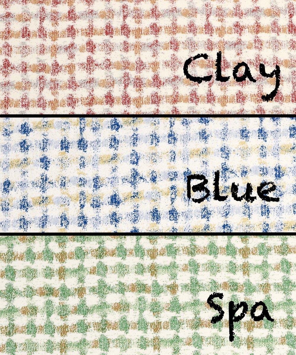 "Ellis Curtain Davins Multi Colored Ikat Check 100-Percent Cotton Twill Shower Curtain, 72 x 72"", Spa"