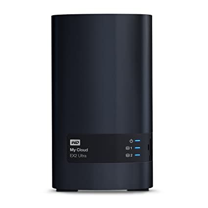 WD 8TB My Cloud EX2 Ultra Network Attached Storage - NAS - WDBVBZ0080JCH-NESN Network Attached Storage at amazon