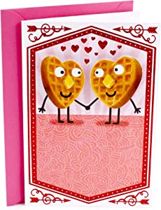 Hallmark Shoebox Funny Anniversary Card, Love Card for Significant Other (Waffles Joke)