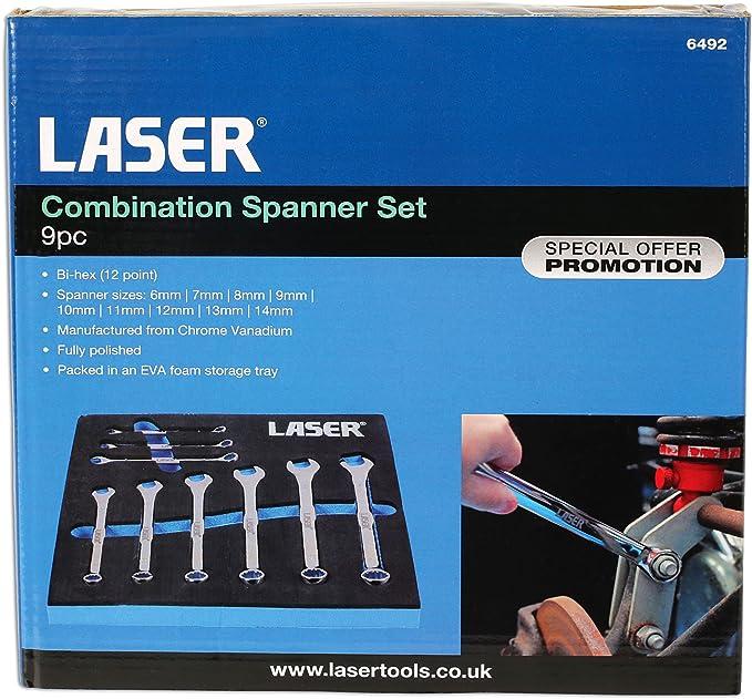 Laser 6493 Combination Spanner Set of 11