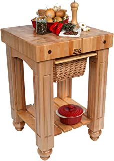 product image for American Heritage Prep Table with Butcher Block Top Base Finish: Natural Maple