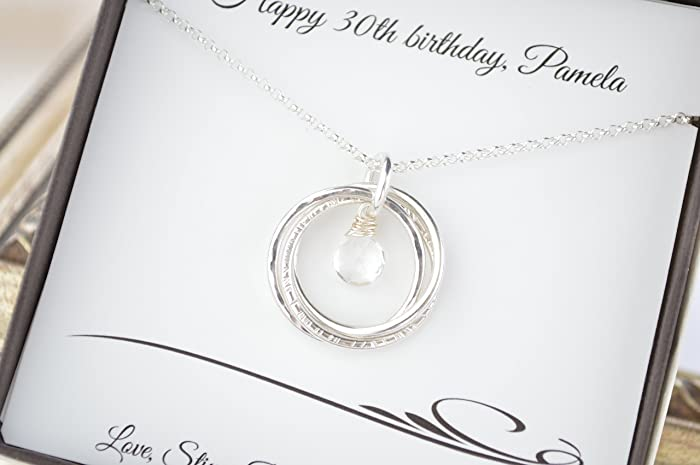 30th Birthday Gift For Her 3 Sisters Necklaces Best Friend 3rd
