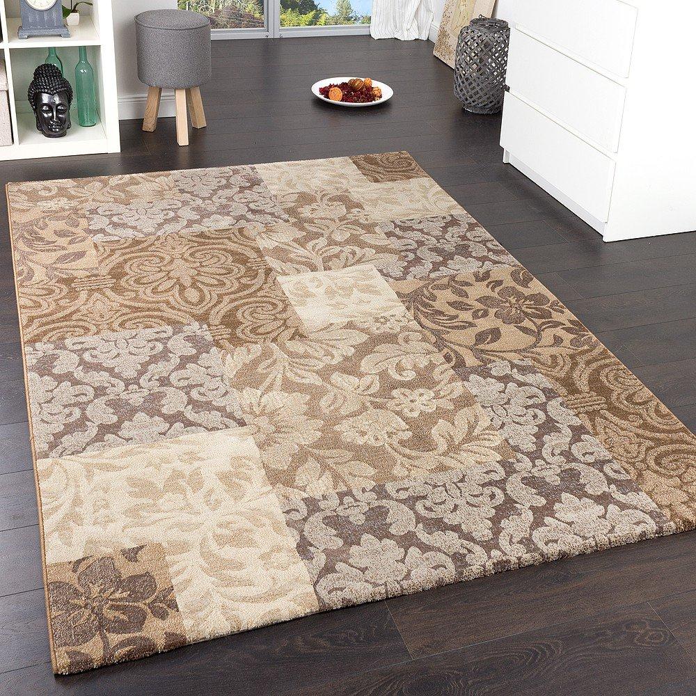 Paco Home Teppich Modern Stylish Grau, Grösse 80x150 cm
