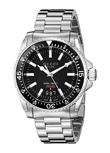 4bf956659e1 Gucci Men s Analogue Quartz Watch with Stainless Steel Bracelet - YA136301   Amazon.co.uk  Watches