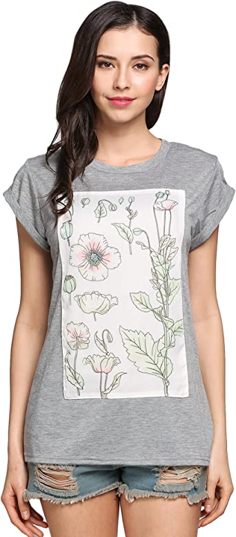 m Ladies pure cotton short sleeved round neck floral pyjamas nightwear size 8-26
