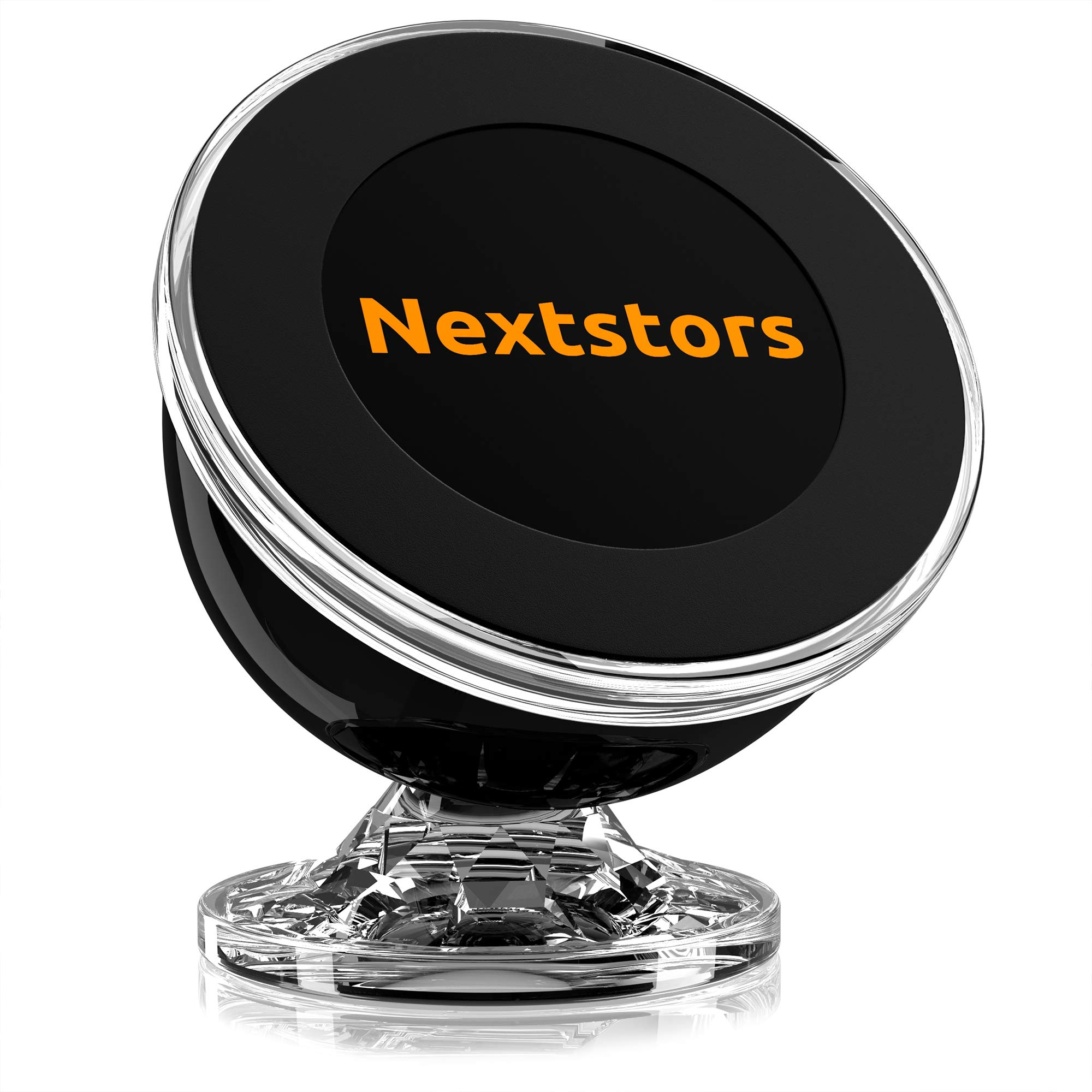 Nextstors Phone Holder for Car Magnetic – Universal Magnetic Phone Car Mount – 360 Degree Rotation from Dashboard – Cell Phone Holder for Car Compatible with All Smartphones