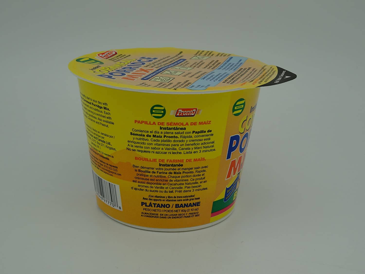 Amazon.com : Pronto Cornmeal Porridge Mix (Banana) : Oatmeal Breakfast Cereals : Grocery & Gourmet Food