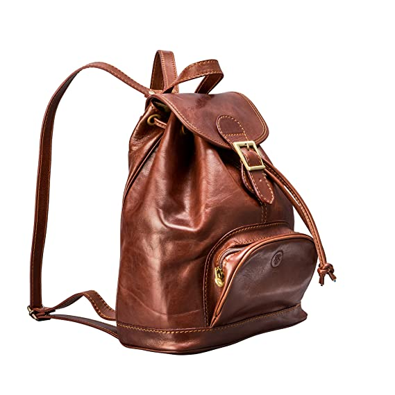 9c04e58f4b2 Maxwell-Scott® Tan Premium Quality Leather Rucksack for Ladies (The Sparano)