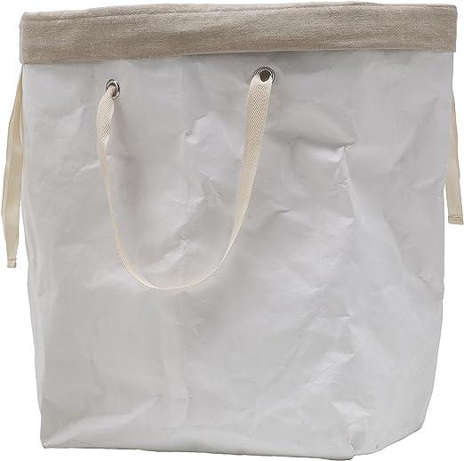 Erika 60 color lavandería de fibra de celulosa) blanco, con bolsa ...