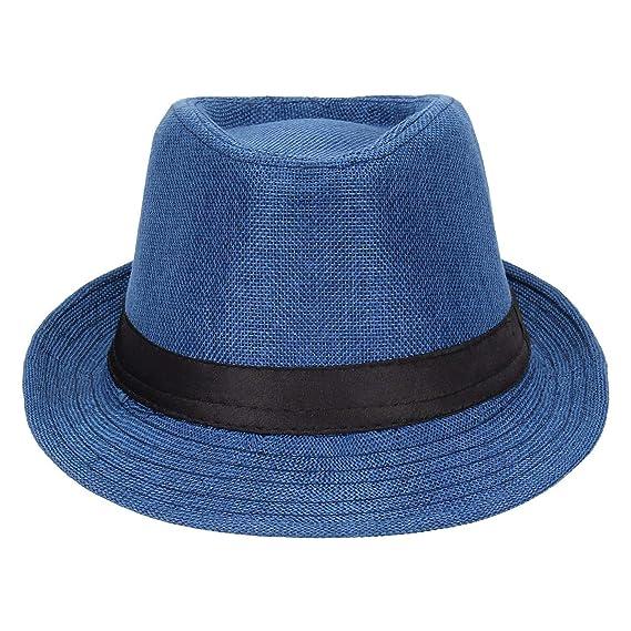 94f5b0da949 Prime Fedora Hats I Hats I Designer Fedora Hats for Womens I Classic Fedora  Hats for Mens(Blue)  Amazon.in  Clothing   Accessories