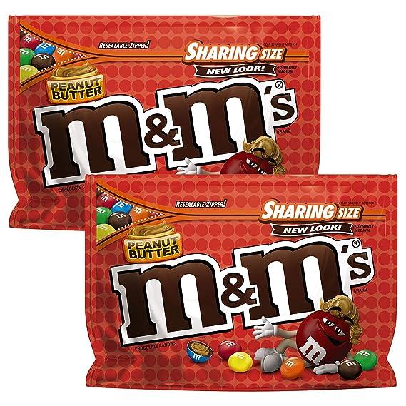 M&Ms Mantequilla de cacahuete del chocolate con leche caramelo (2-Pack), 272g
