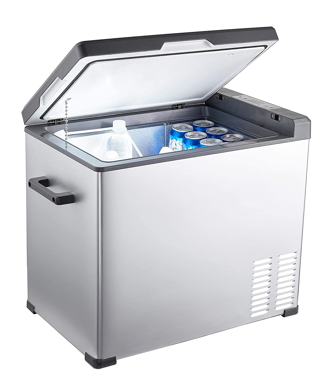 12 Volt Fridge >> Amazon Com Ausranvik 48 Quart Portable Car Refrigerator Car Fridge